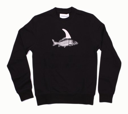 Loreak Mendian Pez Crewneck Sweatshirt - Black