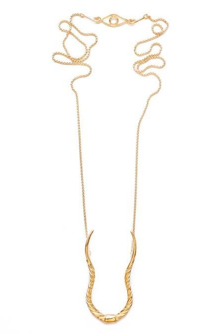 Nina Berenato Eland Horn Necklace - Gold