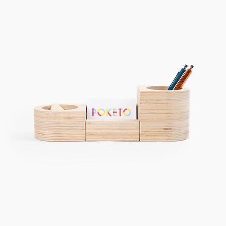 Poketo Wooden Desk Organizer Set