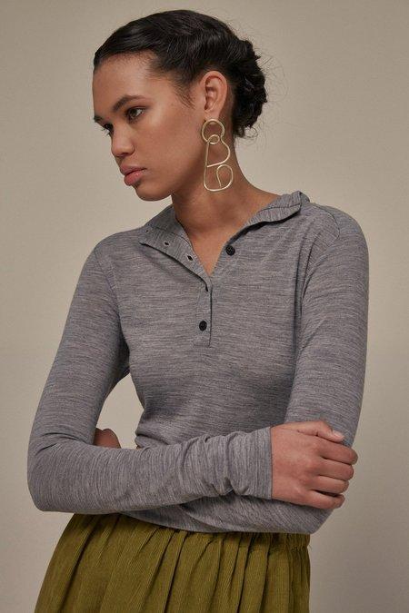OVNA OVICH Ott Skivvy - Grey Marle NZ Merino Wool