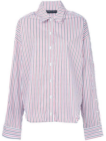 Unisex Y/project Layered Striped Shirt
