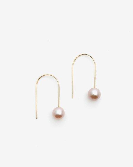 Honey & Bloom Pink Freshwater Cultured Pearl Drop Earrings