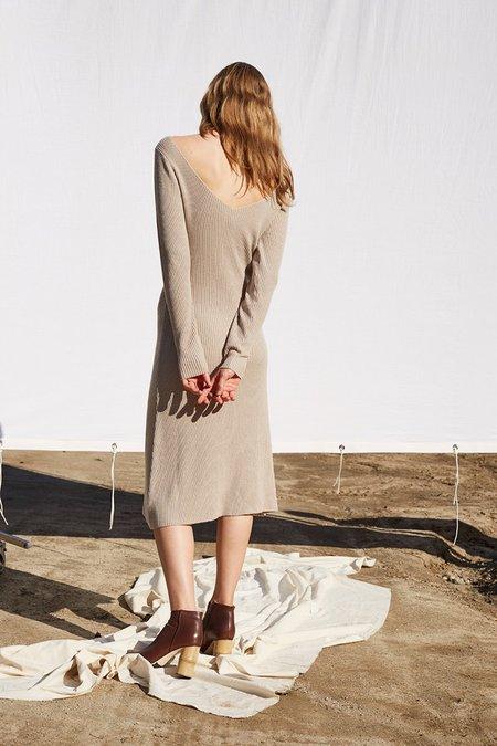 Shaina Mote Isa Dress in Melange Dun