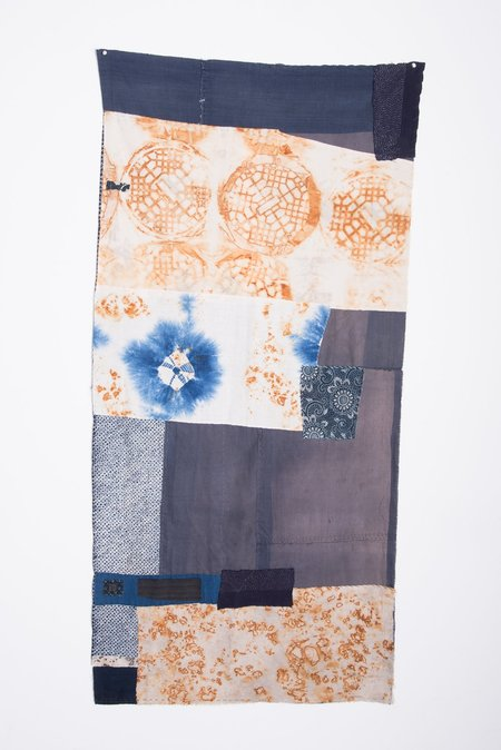 Samantha Verrone One-of-a-Kind Piecework Indigo Tapestry