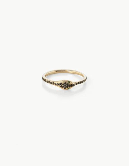 Kathryn Bentley Black Diamond Ouroboros Eternity Ring