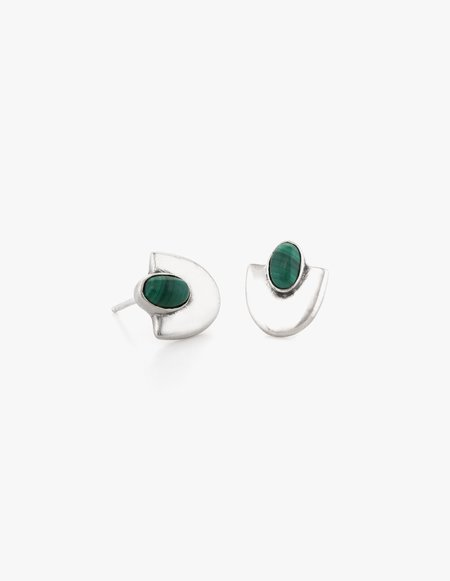 Dream Collective Deco Studs #4 in Malachite
