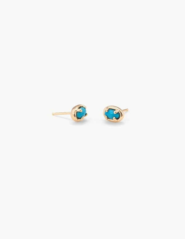 Kathryn Bentley Ellipse Studs in Turquoise