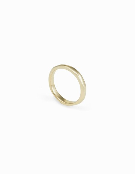 Kathryn Bentley Organic Band Ring - Yellow Gold