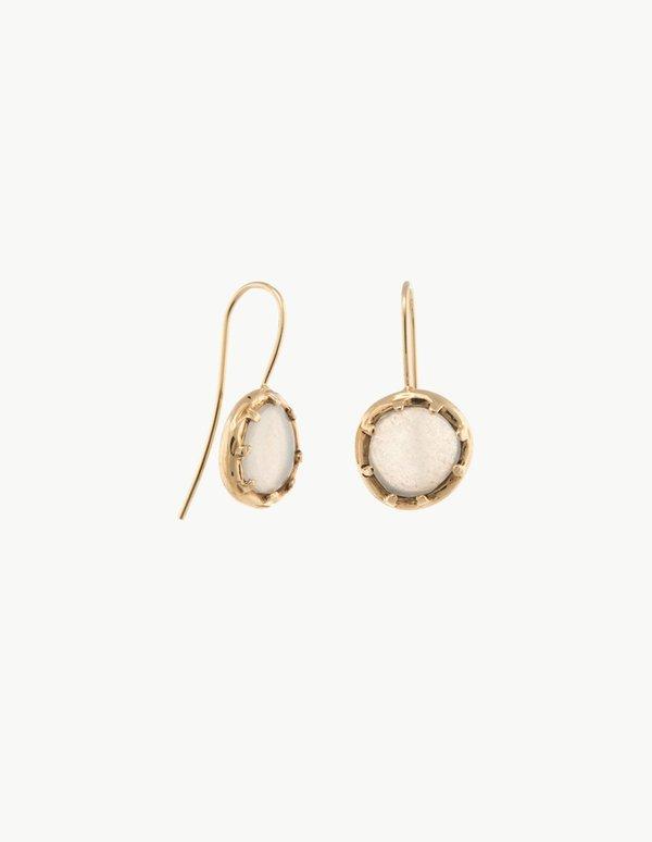 Kathryn Bentley Moonstone Organic Amulet Earrings