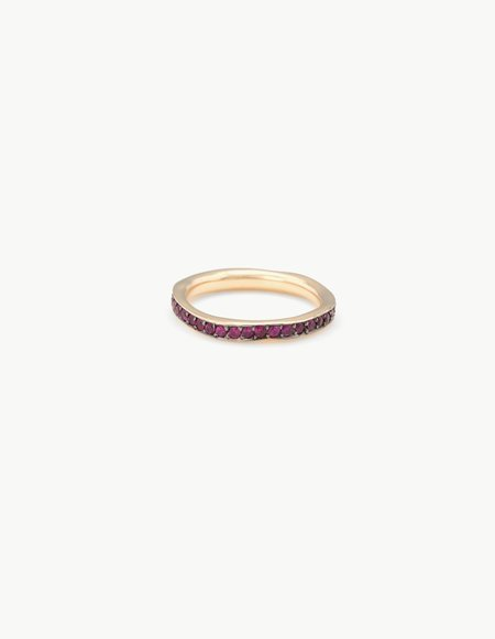 Kathryn Bentley Ruby Eternity Band - 14k Yellow Gold
