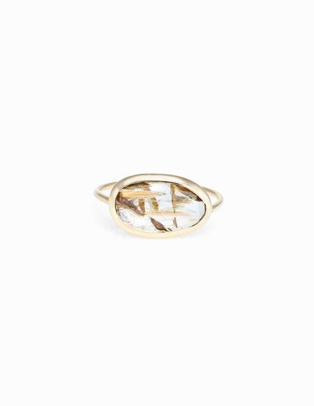 Kathryn Bentley Rutile Quartz Slice Ring