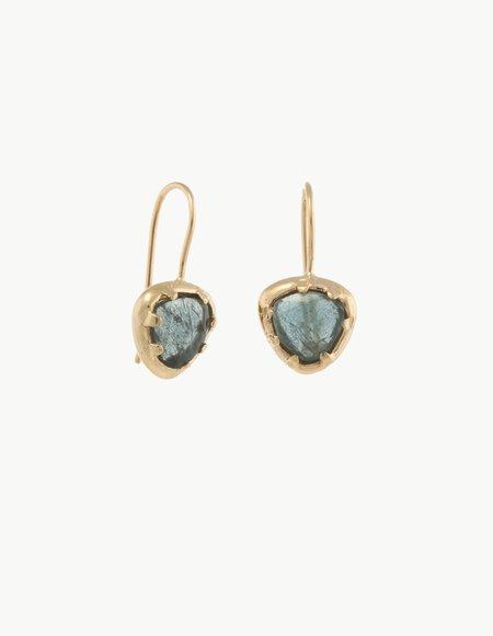 Kathryn Bentley Tourmaline Organic Amulet Earrings