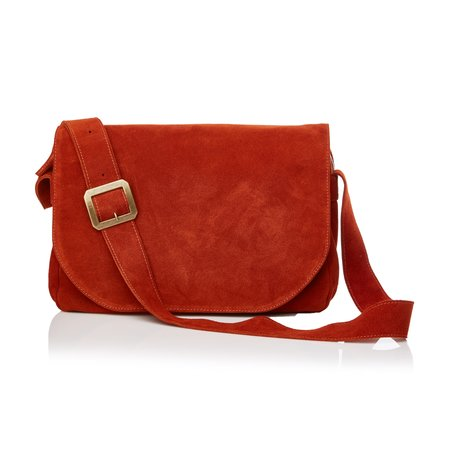 Marie Turnor Accessories Republique Messenger - Paprika Suede