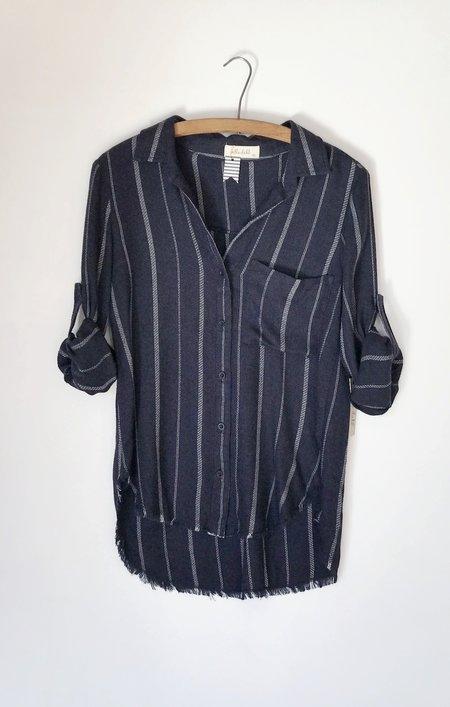 Bella Dahl Sapphire Stripe Pocket Shirt
