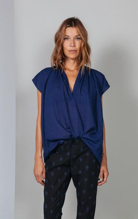 Two New York Khadi Self Stripe Shirt - blue