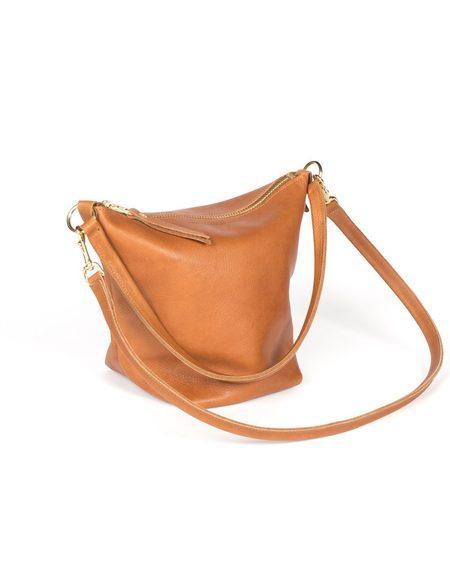 Wood&Faulk Fawn Leather Field Bag