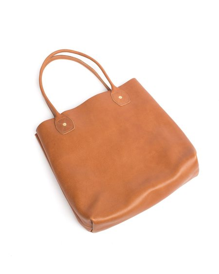 Wood&Faulk Fawn Leather Slouch Tote