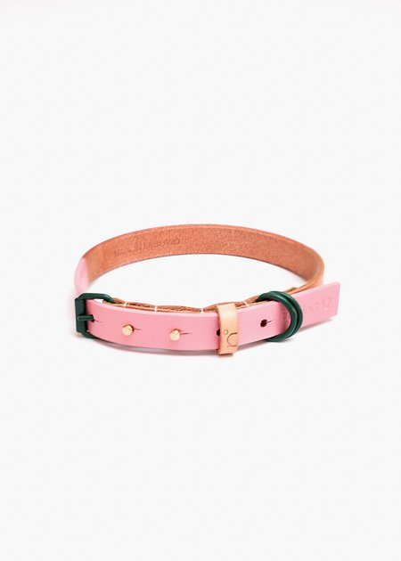 Edition 12 Pink & Green Leather Collar