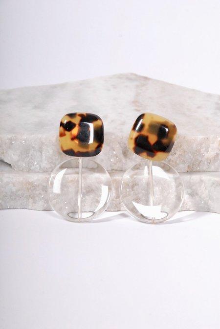 Rachel Comey Arc Earrings - Tortoise Clear