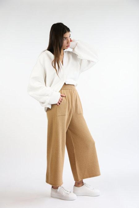 Mijeong Park Wide Leg Knit Pants - Camel