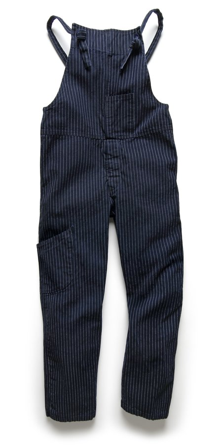 Fortune Goods: OVERALL IN INDIGO TICKING STRIPE