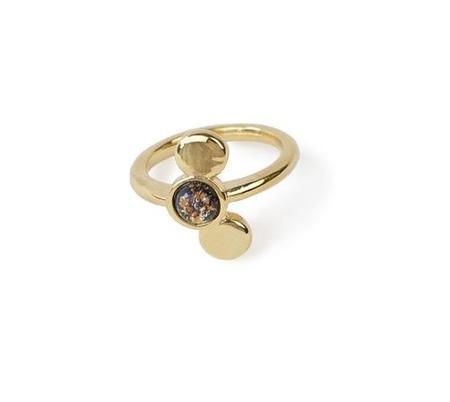 Emily Valentine Ripple Ring - Gold