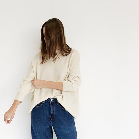 Pari Desai Chalk Inez Sweater