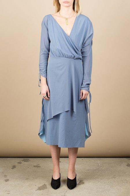 Rachel Comey Loop Dress In Silver Blue