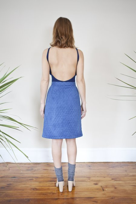 Colorant Quilted Cotton Skirt - Indigo
