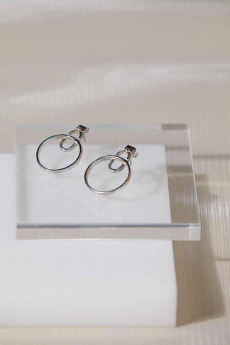 Open House Loupe Earrings - Sterling Silver