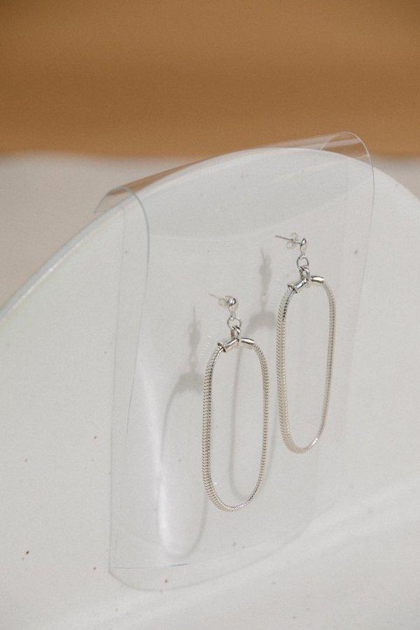 Open House Soft Hoop Earrings - Silver
