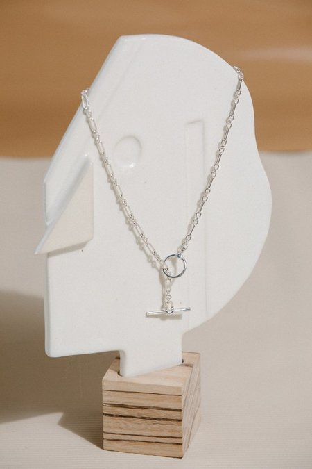 Open House Toggle Necklace - Silver