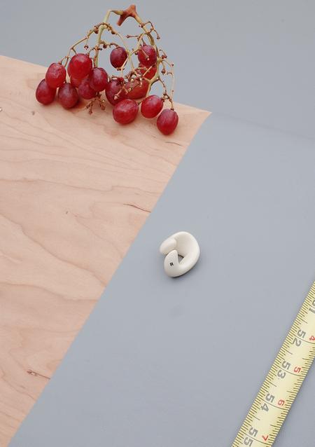 Unisex Ribeyron Organic Lacquered Ring - Beige