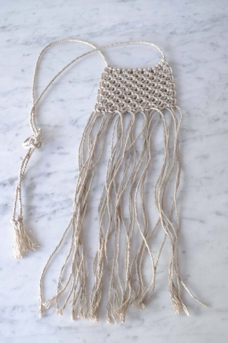 Cathy Callahan Small Macrame Necklace Natural