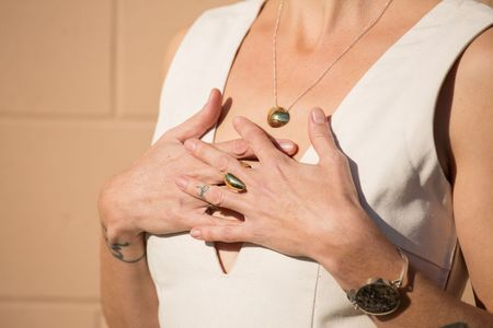 Quarry Petite Nina Necklace - Brass/Sterling Silver