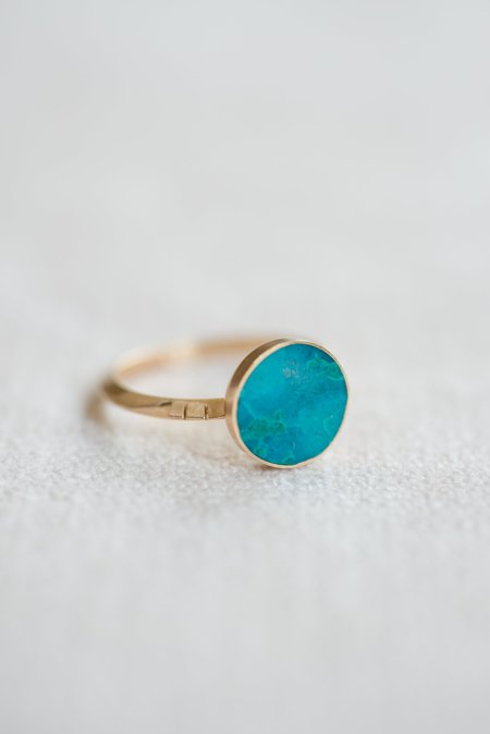 Young In the Mountains Solis Ring - Chrysocolla