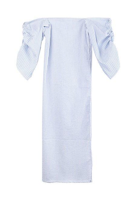 Tessa Matthias African Dress Ticking Stripe