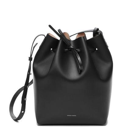 Mansur Gavriel Black/Ballerina Bucket Bag