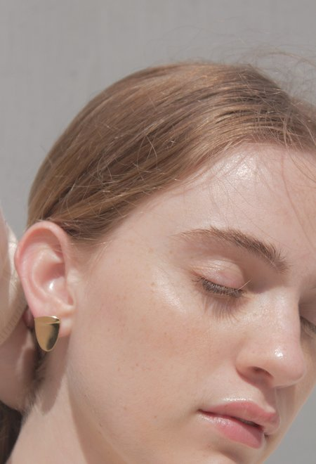 MM Druck George Stud Earrings - Gold Vermeil