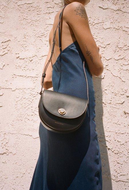 Mansur Gavriel Mini Saddle Bag - Black