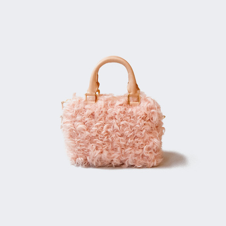 Brother Vellies Mini Island Bag - Blush Curly Goat