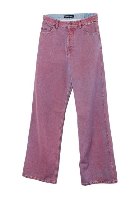 Y Project Red Bleached Jeans