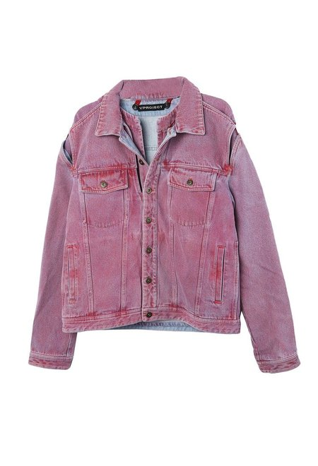 Y Project Red Denim Bleached Jacket