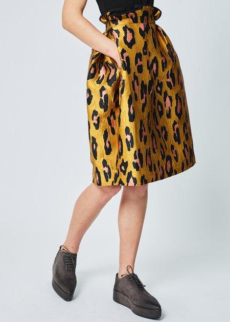 Odeeh Leopard Jacquard Skirt