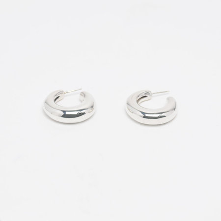 Wakame Silver Hoop Earrings - one size Leigh Miller Jewelry FiBvwp