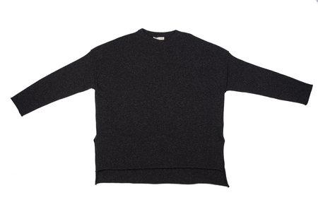 Micaela Greg Hi Lo Black Sweater