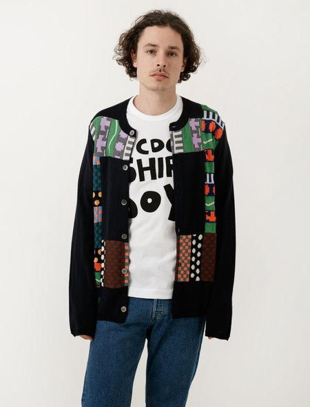 Comme des Garçons Shirt Multi Knit Patch Sweater - Navy