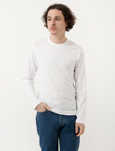Comme Des Garçons Shirt T-Shirt LS White Aw17