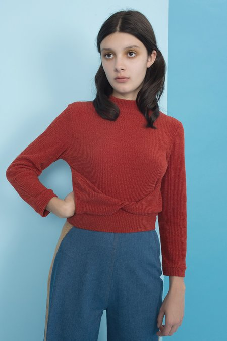 Samantha Pleet Infinity Sweater - Red