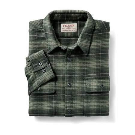 Filson Vintage Flannel Work Shirt - Green/Black